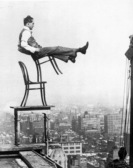 Man Balancing atop 20-Story Building